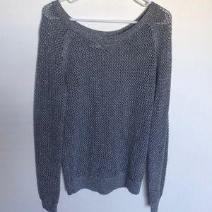 Hollister Metallic Open Knit Sweater